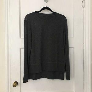 Alo Yoga Glimpse gray pullover sweatshirt sweater